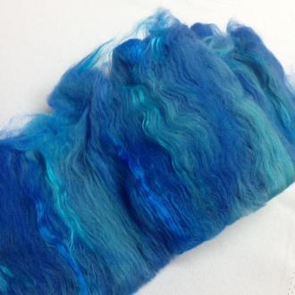 Бленд (батт)  из шерсти с волокнами вискозы для валяния, прядения