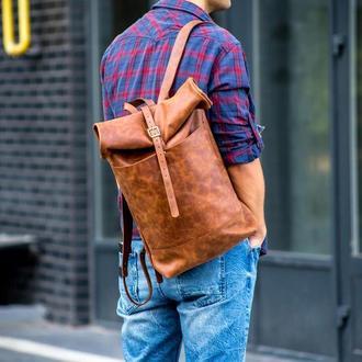 Рюкзак кожаный / коричневый