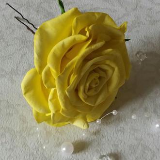 Шпилька в зачіску, роза на шпильці, шпилька