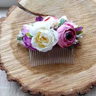 Свадебный гребень Заколка для волос Веночек для волос Свадебный венок Свадебная бутоньерка Гребень