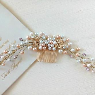 Свадебное украшение для волос, нежный гребень для волос