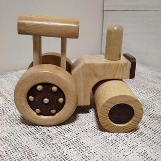 Деревянная игрушка Асфальтоукладчик (Каток)