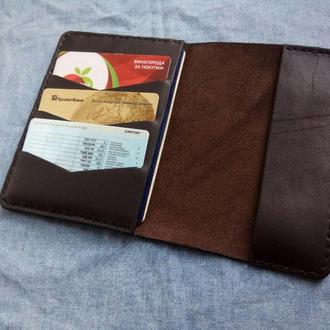 Обложка для паспорта / органайзер, из натуральной кожи