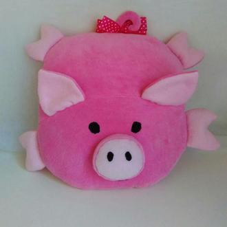 Свинка, поросенок подушка-игрушка, символ 2019 года