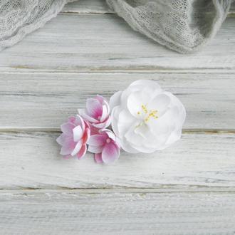 Заколка с цветами, Аксессуары для волос, Цветы в прическу, Подарок девочке