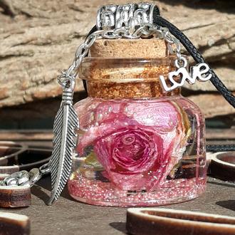 Баночка с розой