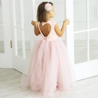 """Детское пышное нарядное праздничное платье """"Ангельское сердце"""""""