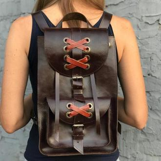 Женский кожаный городской рюкзак Bonny