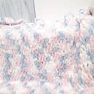 Плед детский из плюшевое пряжи 120х115см