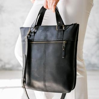 Сумка ZIP, шкіряна сумка, сумка шоппер, сумка для ноутбука, через плечо, большая сумка ручной работы