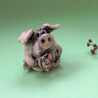 Свинья романтик фигурка свиньи