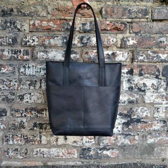 Сумка шоппер, Сумка для ноутбука, Велика жіноча сумка, Шкіряна жіноча сумка, Сумка для документів