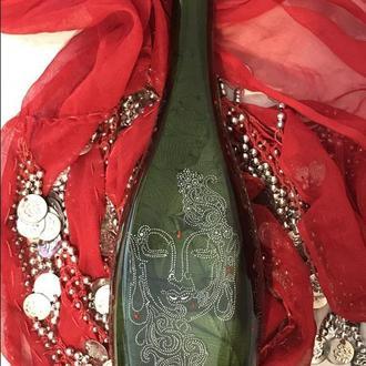 Бутылка декорированная Будда