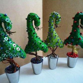 Новогодние елочки - декор, подарок, сувенир.