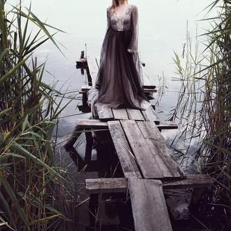 """Будуарное платье """"Черное золото"""""""