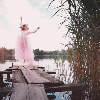 """Будуарное платье """"Розовая жемчужина"""""""