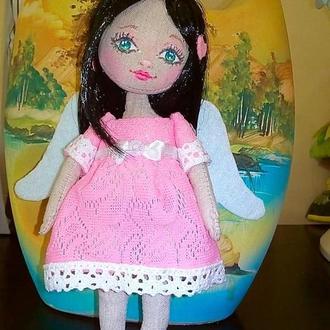 Текстильная куколка Ангелинка