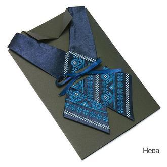Кросс-галстук с вышивкой Нева