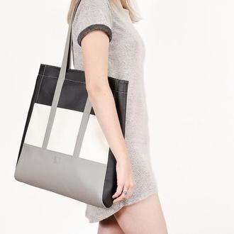 "Черно-белая сумка tote ""Charisma"""