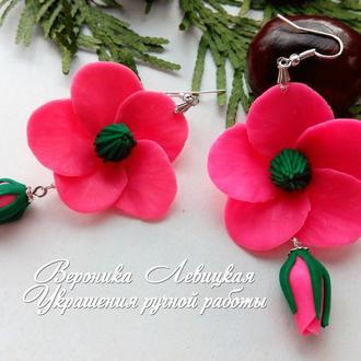 Серьги розовые