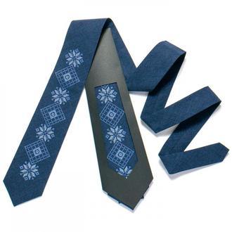 Вышитый галстук №726, Подарок мужчине, Сувенир из Украины