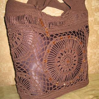 """Сумка ручной работы вязаная крючком """"Женский каприз"""", вязаные сумки крючком, Bag Crochet Handmade"""