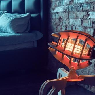 Стильные деревянные лампы в интерьер лофт