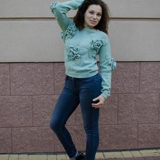 Эффектный свитер 100% шерсть