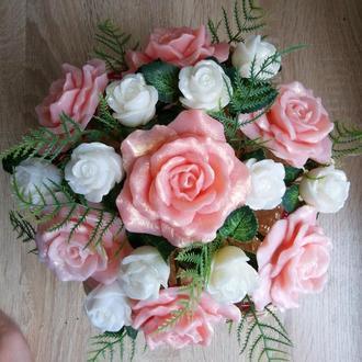 Букет роз из мыла , мыльный букет, цветы на подарок