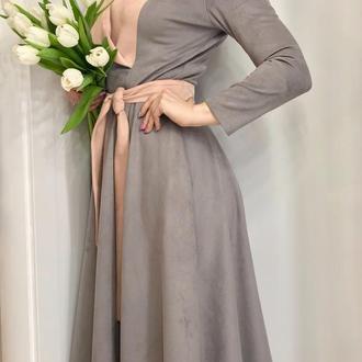 Платье из двусторонней ЭКО-замши