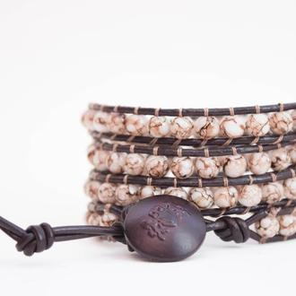 Спиральный браслет ручной работы чан лу chan luu из бусин. имитация камня