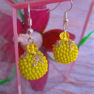 """Серьги """"Yellow raspberry"""""""
