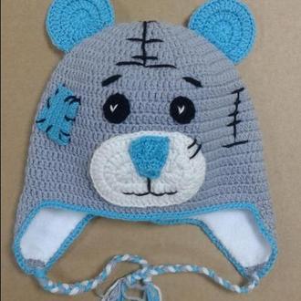 Детская шапка мишка Тедди