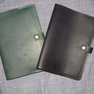Обложка обкладинка для щоденника чи блокноту формату А5 (зелена, чорна, темно синя коричнева)
