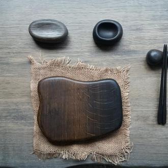 Сервировочный набор для суши из морёного дуба