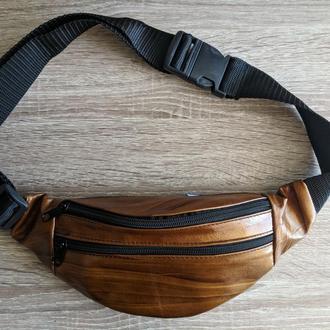 Стильная сумка на пояс, бананка 100% натуральная кожа, эксклюзивный цвет.