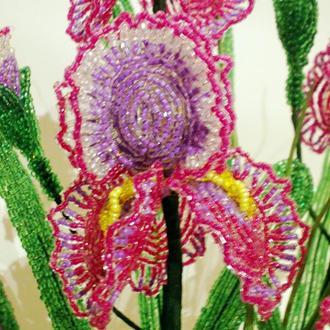 Ирис из бисера Цветы из бисера 65