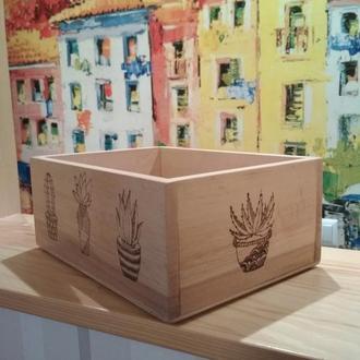 Шкатулка декоративная, деревянный бокс