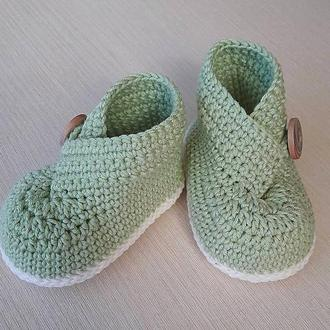 Пинетки - ботиночки ручной работы