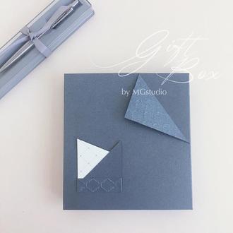 "GiftBox ""Bond"" Цвет 2 (платина) - открытка в коробочке"