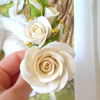 Распродажа! Свадебная бутоньерка для невесты и жениха.