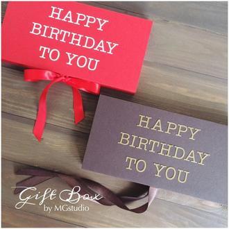 "Gift Box ""Just HB"" - открытка в коробочке"