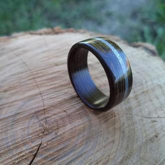 Крафтовое изделие кольцо из черного дерева венге
