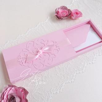 "Gift Box ""Napule"" (розовый) - открытка в коробочке"