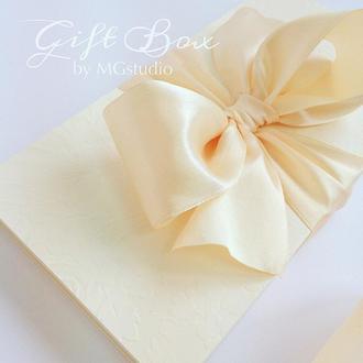 """Gift Box """"Loreleya"""" цвет 2 (молочный) - открытка в коробочке"""