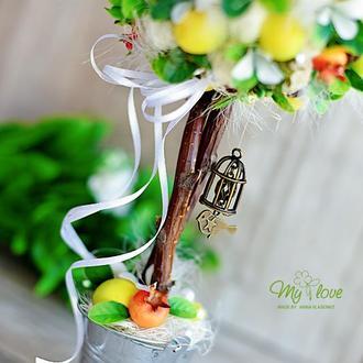 Топиарий / деревце счастья Теплый сентябрь