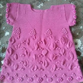 Платье-туника ручной работы