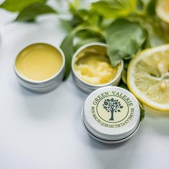 Віск-масло для нігтів та кутикули з лимоном та базиліком