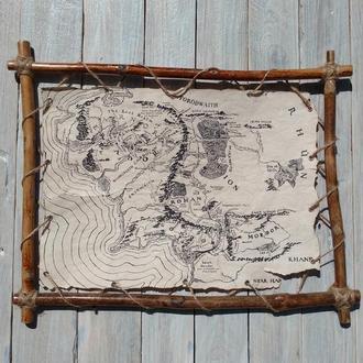 Карта Средиземье, Властелин Колец, Хоббит, Толкин