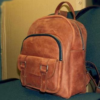 Кожаный рюкзак city compact (cognac)